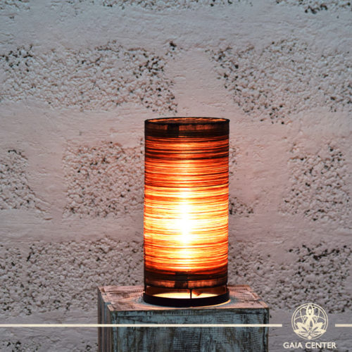 Lamps set textile brown color |small size| from Bali at Gaia Center | Cyprus.