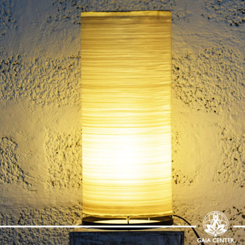 Lamp textile cream color |large size| from Bali at Gaia Center | Cyprus.