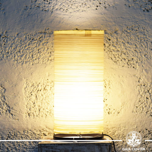Lamp textile cream color |medium size| from Bali at Gaia Center | Cyprus.