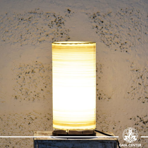 Lamp textile cream color |small size| from Bali at Gaia Center | Cyprus.