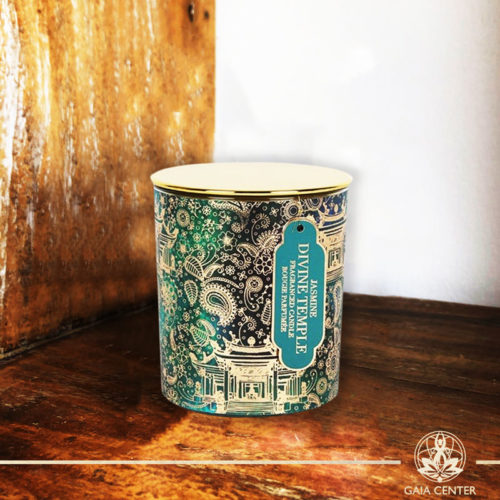 Fragrant Candle Jasmine in a glass jar   Aroma and Scented candles selection at Gaia Center   Cyprus.