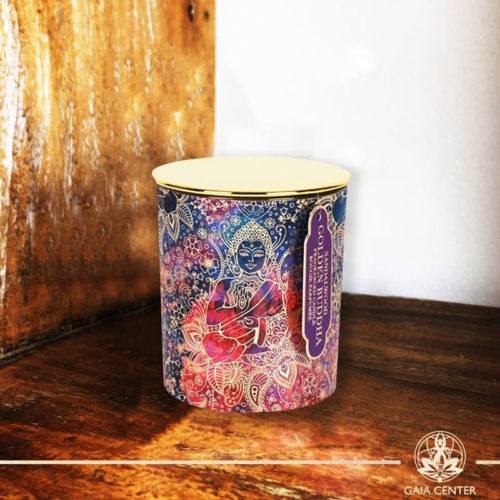 Fragrant Candle Sandalwood in a glass jar | Aroma and Scented candles selection at Gaia Center | Cyprus.