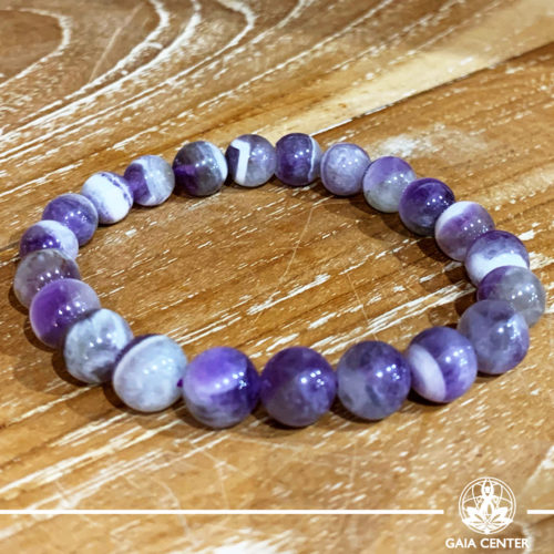 Amethyst Chevron Power Bracelet. Healing Crystals and Gemstone selection at Gaia Center | Cyprus.