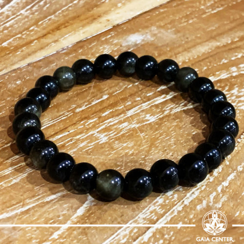 Goldsheen Obsidian Power Bracelet. Healing Crystals and Gemstone selection at Gaia Center | Cyprus.