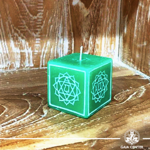 Candle Heart Chakra Meditation Green color. Natural and Scented, Aroma Candles selection at Gaia Center   Cyprus.