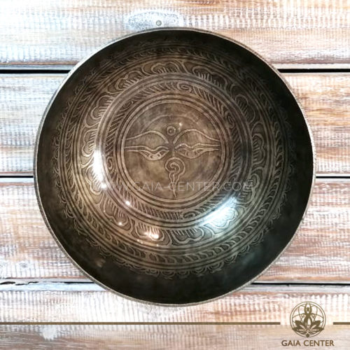 Sining Bowl metal for Sound Healing Therapy engraved mantra and Buddha Eyes symbol at GAIA CENTER   CYPRUS. Original from Nepal. Cyprus delivery to: Limassol, Paphos, Nicosia, Larnaca, Paralimni, Strovolos. Including provinces and small suburbs. Europe and International Worldwide shipping. Wholesale and Retail. Shop online for Singing Bowls: https://gaia-center.com
