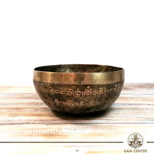 Tibetan Sining Bowl metal with engraved design auspicious buddhist the endless knot symbol and prayers /mantras for Sound Healing Therapy at GAIA CENTER   CYPRUS. Original from Nepal. Cyprus delivery to: Limassol, Paphos, Nicosia, Larnaca, Paralimni, Strovolos. Including provinces and small suburbs. Europe and International Worldwide shipping. Wholesale and Retail. Shop online for Singing Bowls: https://gaia-center.com