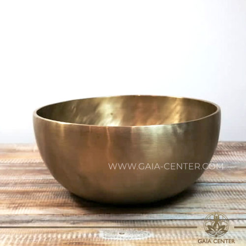 Tibetan Sining Bowl metal with zen style minimalistic gold color finishing. Great meditation and Sound Healing Therapy. Original top quality singing bowls from Nepal at GAIA CENTER   CYPRUS. Cyprus delivery to: Limassol, Paphos, Nicosia, Larnaca, Paralimni, Strovolos. Including provinces and small suburbs. Europe and International Worldwide shipping. Wholesale and Retail. Shop online for Singing Bowls: https://gaia-center.com