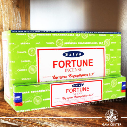Incense Sticks pack 15g Fortune by Satya at Gaia Center | Cyprus. Selection of natural Incense sticks and Incense holders. Cyprus delivery to: Limassol, Paphos, Nicosia, Larnaca, Paralimni, Strovolos. Including provinces and small suburbs. Europe and International Worldwide shipping.