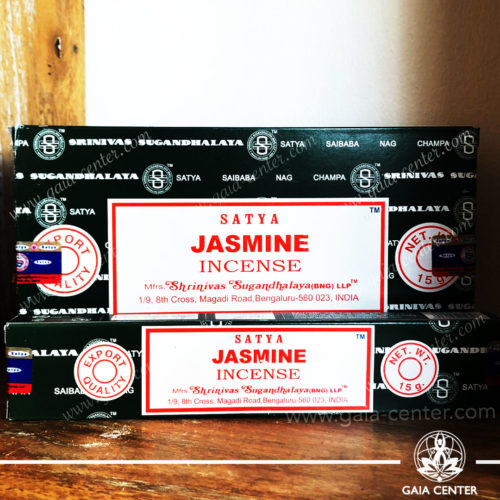 Incense Sticks pack 15g Jasmine by Satya at Gaia Center | Cyprus. Selection of natural Incense sticks and Incense holders. Cyprus delivery to: Limassol, Paphos, Nicosia, Larnaca, Paralimni, Strovolos. Including provinces and small suburbs. Europe and International Worldwide shipping.