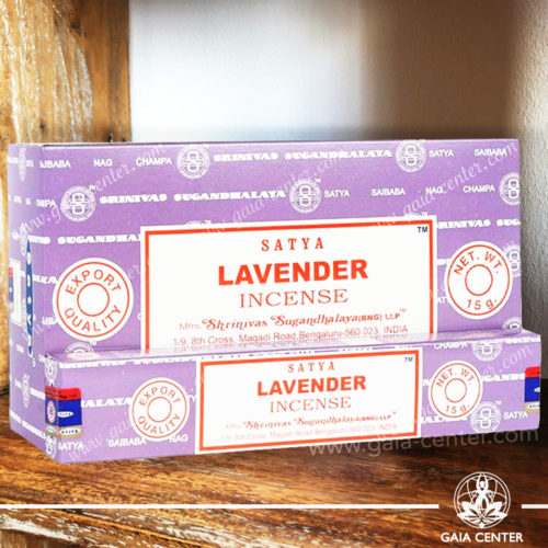 Incense Sticks pack 15g Lavender by Satya at Gaia Center | Cyprus. Selection of natural Incense sticks and Incense holders. Cyprus delivery to: Limassol, Paphos, Nicosia, Larnaca, Paralimni, Strovolos. Including provinces and small suburbs. Europe and International Worldwide shipping.