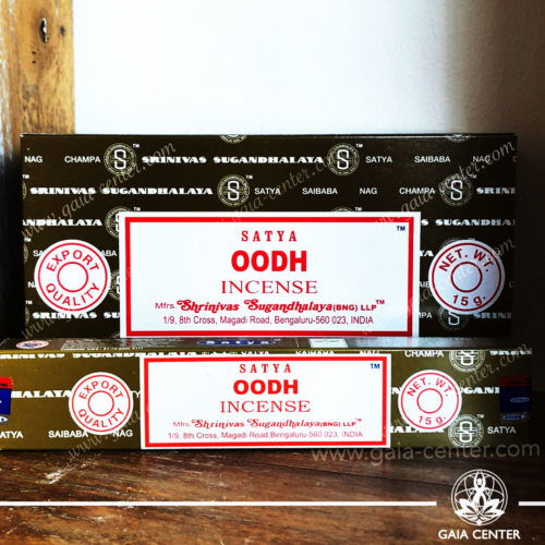Incense Sticks pack 15g Oodh by Satya at Gaia Center | Cyprus. Selection of natural Incense sticks and Incense holders. Cyprus delivery to: Limassol, Paphos, Nicosia, Larnaca, Paralimni, Strovolos. Including provinces and small suburbs. Europe and International Worldwide shipping.