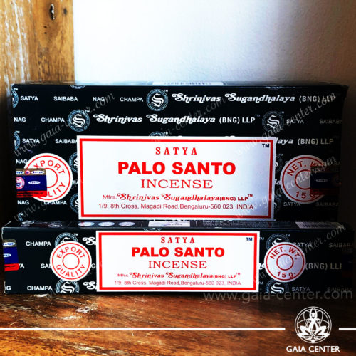 Incense Sticks pack 15g Palo Santo by Satya at Gaia Center | Cyprus. Selection of natural Incense sticks and Incense holders. Cyprus delivery to: Limassol, Paphos, Nicosia, Larnaca, Paralimni, Strovolos. Including provinces and small suburbs. Europe and International Worldwide shipping.