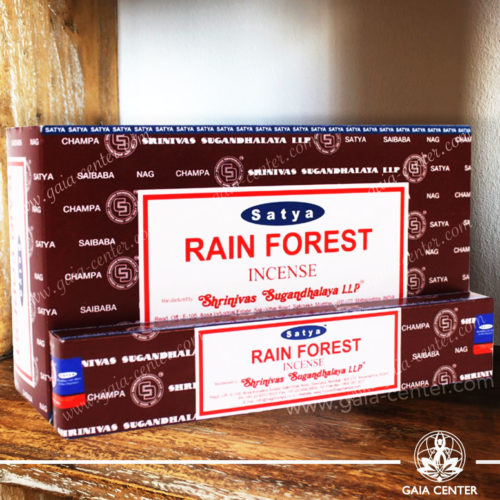 Incense Sticks pack 15g Rain Forest by Satya at Gaia Center | Cyprus. Selection of natural Incense sticks and Incense holders. Cyprus delivery to: Limassol, Paphos, Nicosia, Larnaca, Paralimni, Strovolos. Including provinces and small suburbs. Europe and International Worldwide shipping.