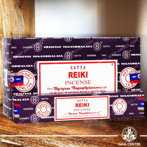 Incense Sticks pack 15g Reiki by Satya at Gaia Center | Cyprus. Selection of natural Incense sticks and Incense holders. Cyprus delivery to: Limassol, Paphos, Nicosia, Larnaca, Paralimni, Strovolos. Including provinces and small suburbs. Europe and International Worldwide shipping.