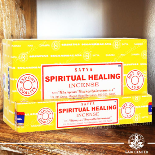 Incense Sticks pack 15g Spiritual Healing by Satya at Gaia Center | Cyprus. Selection of natural Incense sticks and Incense holders. Cyprus delivery to: Limassol, Paphos, Nicosia, Larnaca, Paralimni, Strovolos. Including provinces and small suburbs. Europe and International Worldwide shipping.