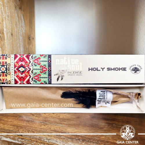 Incense Sticks Holy Smoke aroma Native Soul series by Green Tree at Gaia Center | Cyprus.