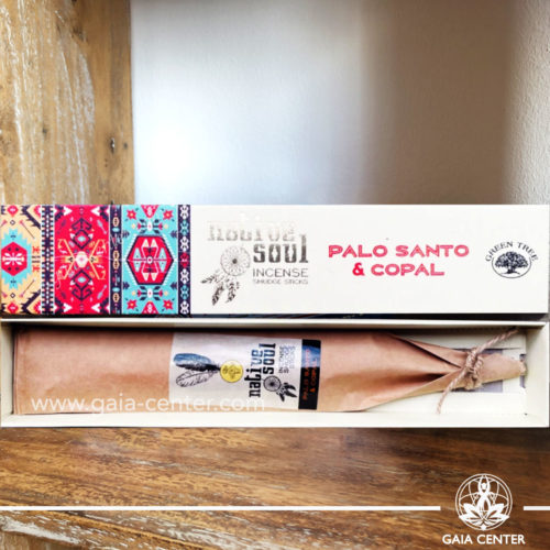 Incense Sticks Palo Santo & Copal aroma Native Soul series by Green Tree at Gaia Center | Cyprus.
