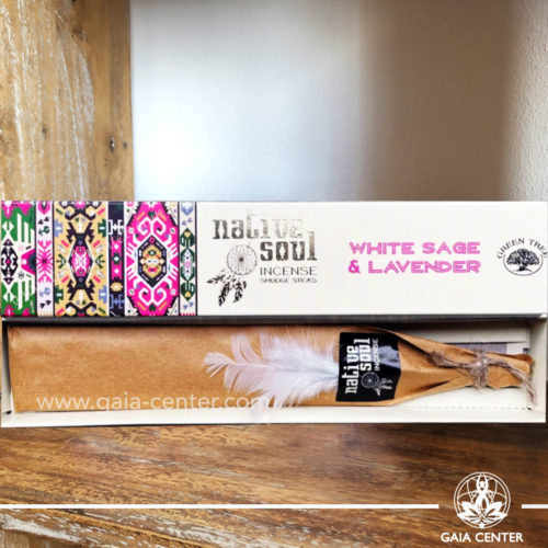 Incense Sticks White Sage & Lavender aroma Native Soul series by Green Tree at Gaia Center | Cyprus.