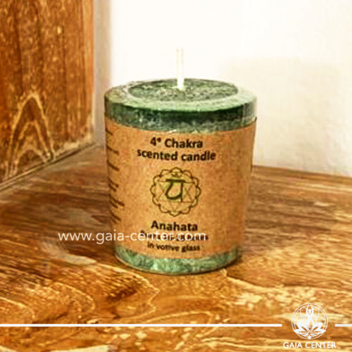 Natural Chakra Candle Anahata chakra 4 at Gaia Center | Cyprus.