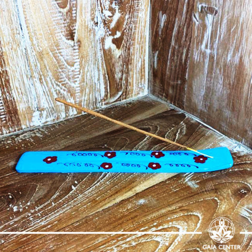 Incense Holder or Ash Catcher for incense sticks. Made from wood with artistic design. Incense burners selection at Gaia Center   Cyprus.