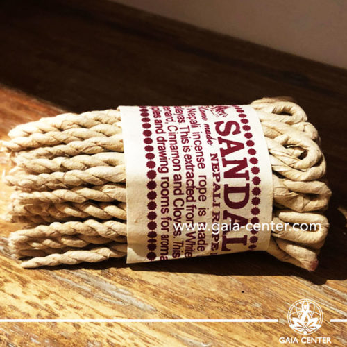 Sandalwood Nepali rope incense in Cyprus at Gaia-Center. Selection of natural incense. We deliver worldwide. Wholesale and retail.