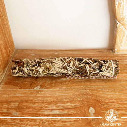 Black Sage Smudge Stick Bundle 22-23cm stick for space and energy clearing. Selection at Gaia Center | Cyprus.