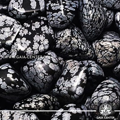 Snowflake Obsidian Tumblestones 30-40mm Large shape. Crystals and semiprecious gemstone selection at GAIA CENTER | Cyprus.