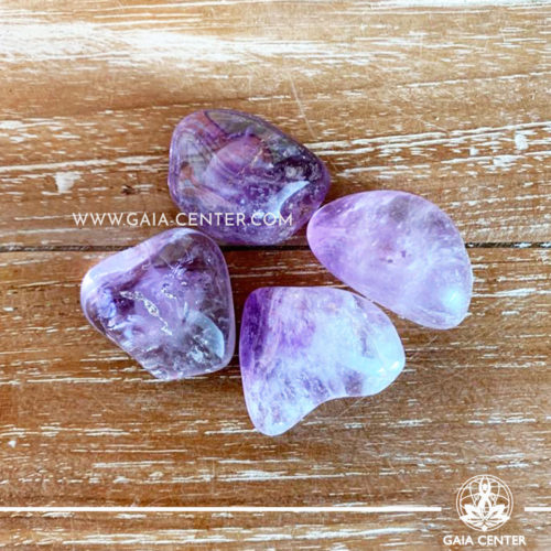 Amethyst Brazil Tumblestones 30-40mm Large shape. Crystals and semiprecious gemstone selection at GAIA CENTER | Cyprus.