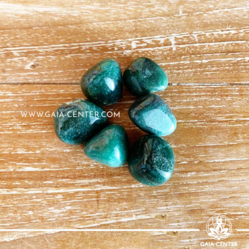 Green Quartz Brazil Tumblestones 20-30mm Medium shape. Crystals and semiprecious gemstone selection at GAIA CENTER | Cyprus.