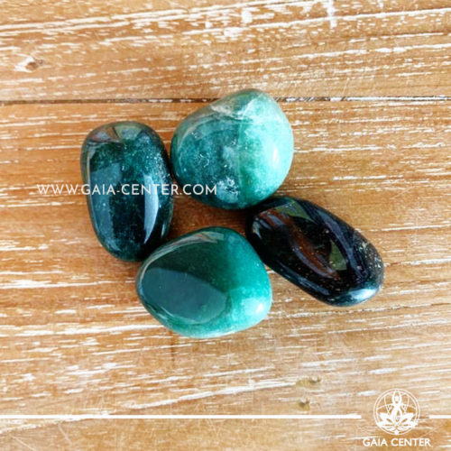 Green Quartz Brazil Tumblestones 30-40mm Large shape. Crystals and semiprecious gemstone selection at GAIA CENTER | Cyprus.