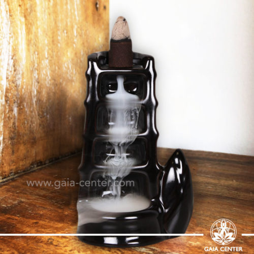 Backflow Incense Burner - Bamboo Fountain. Backflow burners an Backflow dhoop cones selection at Gaia Center | Cyprus.