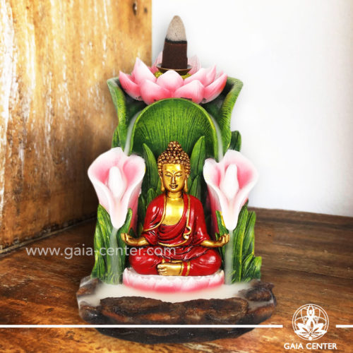 Backflow Incense Burner - Buddha and Lotus Flower Fountain. Backflow burners an Backflow dhoop cones selection at Gaia Center | Cyprus.