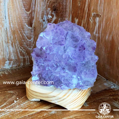 Crystal  Quartz Amethyst Lamp -small size. Crystal and Gemstone selection at Gaia Center   Cyprus.