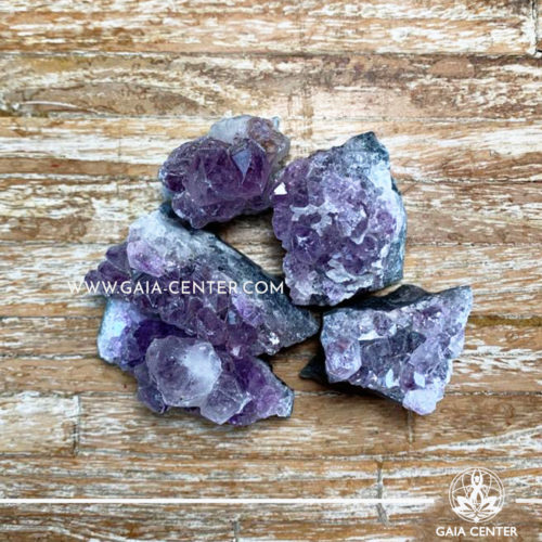 Crystal Amethyst Druze Clusters rough crystals. Crystals and semiprecious gemstones and minerals selection at GAIA CENTER | Cyprus.