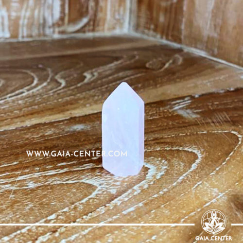 Crystal Point Polished Rose Quartz Crystal 4 cm. Crystal and Gemstone selection at Gaia Center | Cyprus.