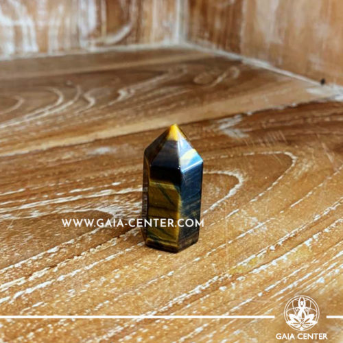 Crystal Point Polished Tigers Eye 3.5 cm. Crystal and Gemstone selection at Gaia Center | Cyprus.