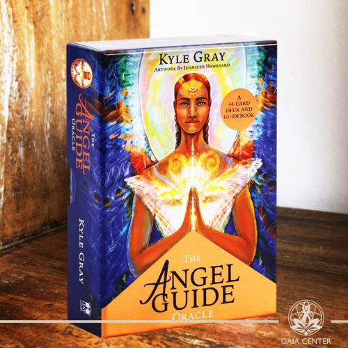 The Angel Guide Oracle Cards Deck by Kyle Gray. A 44 card deck and a guidebook. Tarot | Oracle | Angel Cards selection at Gaia Center | Cyprus.
