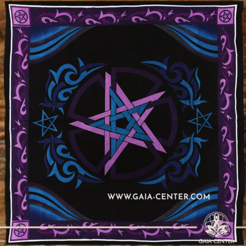 Altar Cloth - Pentacle style 100x100cm is perfect for Tarot, Oracle cards, Intuitive Reading, Crystal and Rune placement. Tarot | Oracle | Angel Cards selection and Altar Accessories at Gaia Center | Cyprus.