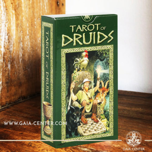 The Tarot of Druids tarot card deck by Antonio Lupatelli includes a 78-card deck and guidebook at Gaia Center | Cyprus. Tarot | Oracle | Angel Cards selection at Gaia Center | Cyprus.