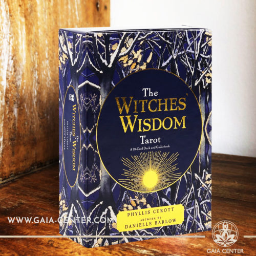 The Witches Wisdom Tarot card deck by Phyllis Curott includes a 78-card deck and 176 page guidebook at Gaia Center | Cyprus. Tarot | Oracle | Angel Cards selection at Gaia Center | Cyprus.