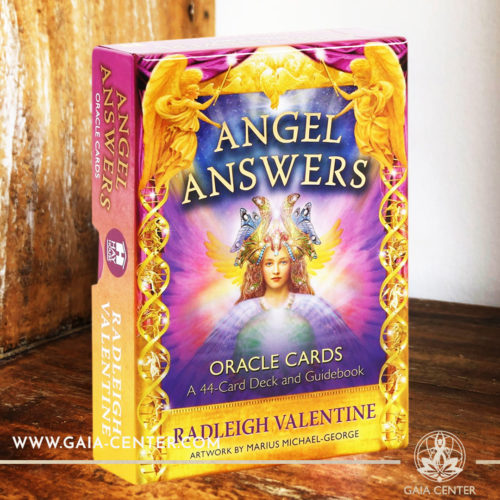 The Angel Answers Oracle card deck by Radleigh Valentine includes a 44-card deck and 185 page guidebook at Gaia Center | Cyprus. Tarot | Oracle | Angel Cards selection at Gaia Center | Cyprus.