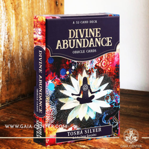The Divine Abundance oracle card deck by Tosha Silver includes a 52-card deck with inspiring quotes to help guide the user's spiritual journey. Tarot | Oracle | Angel Cards selection at Gaia Center | Cyprus.