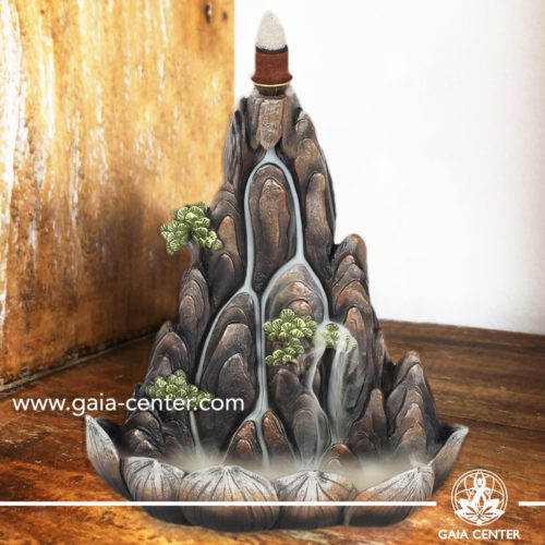 Backflow Incense Burner - Island or Mountain color Aroma Fountain. Backflow incense burners an Backflow dhoop cones selection at Gaia Center | Cyprus.