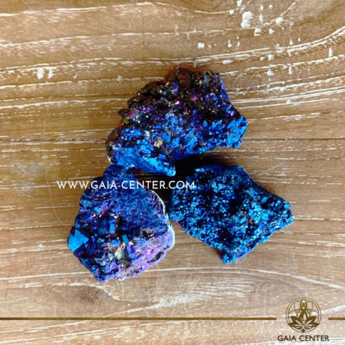Crystal Quartz Purple Blue Pink Aura Druzy Clusters rough crystals. Crystals and semiprecious gemstones and minerals selection at GAIA CENTER | Cyprus.