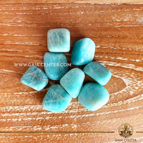 Crystal Amazonite Tumbled Stones 10-20mm shape. Crystals and semiprecious gemstone selection at GAIA CENTER | Cyprus.