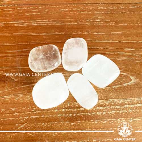 Crystal Calcite Optical Tumbled Stones 20-30mm shape. Crystals and semiprecious gemstone selection at GAIA CENTER | Cyprus.