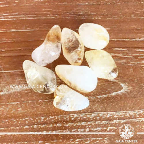 Crystal Citrine Tumbled Stones 10-20mm Small shape. Crystals and semiprecious gemstone selection at GAIA CENTER   Cyprus.