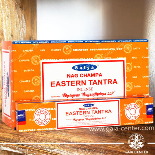 Incense Sticks pack 15g Eastern Tantra by Nag Champa Satya at Gaia Center | Cyprus.