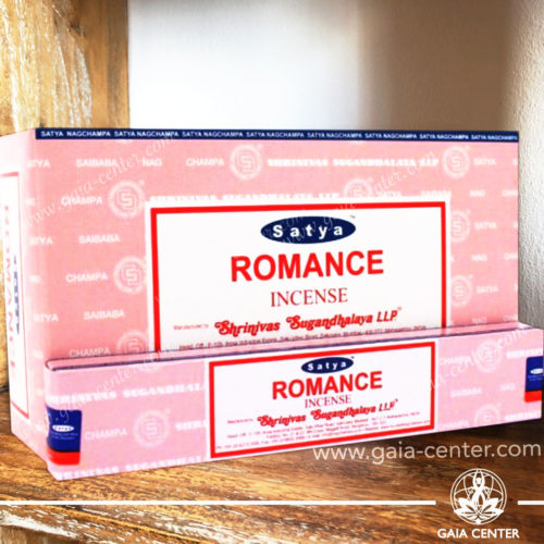 Incense Sticks pack 15g Romance by Satya at Gaia Center | Cyprus.